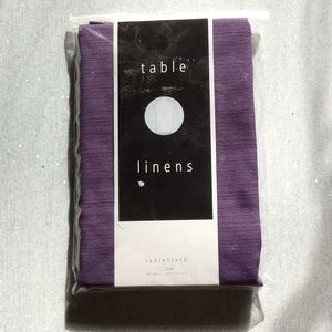 Brand New Purple Oval Tablecloth